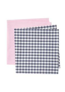 Nordstrom Claire Check Pocket Square s - Set of 2