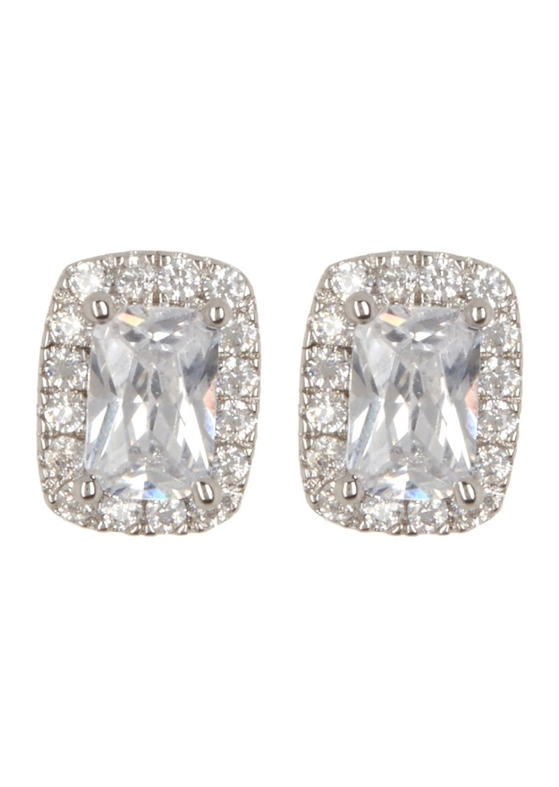 Nordstrom Cz Emerald Surround Stud Earrings