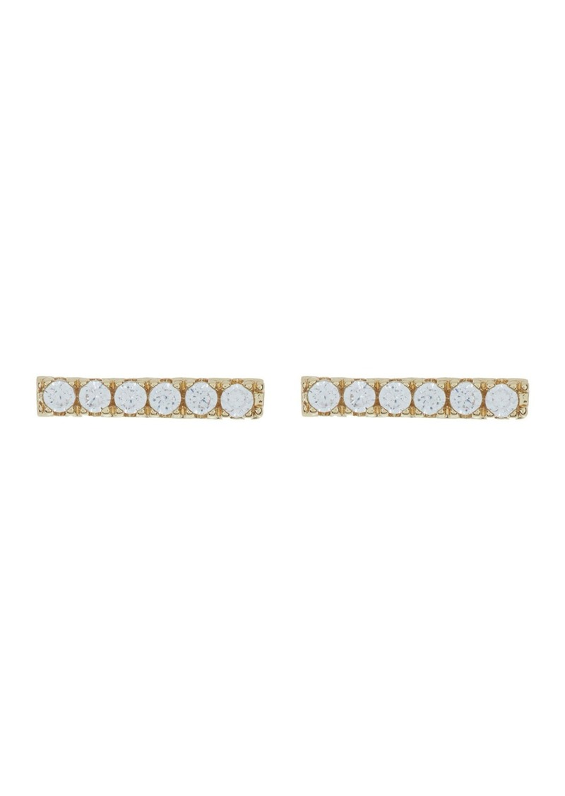 Nordstrom CZ Pave Bar Stud Earrings