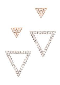 Nordstrom CZ Pave Triangle Stud Set