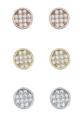 Nordstrom CZ Tritone Stud Earrings - Set of 3