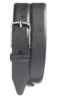 Nordstrom Evans Saffiano Leather Belt