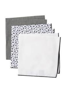 Nordstrom Fiona Floral Solid Pocket Squares - Set of 3