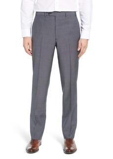 John W. Nordstrom® Flat Front Check Wool Trousers