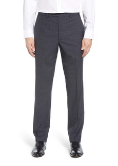 John W. Nordstrom® Flat Front Plaid Wool Trousers