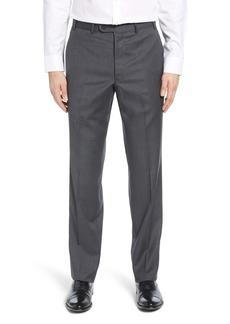 John W. Nordstrom® Flat Front Stripe Wool Trousers
