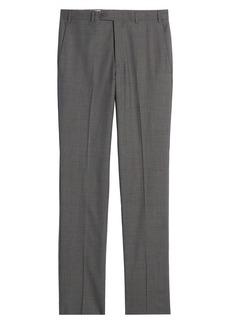 John W. Nordstrom® Torino Flat Front Glen Plaid Wool Pants