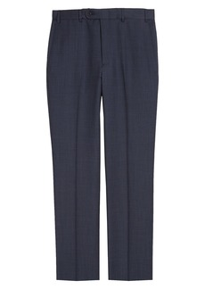 John W. Nordstrom® Torino Flat Front Solid Wool Trousers