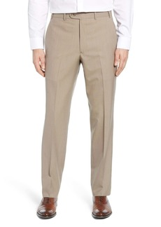 John W. Nordstrom(R) Flat Front Stripe Wool Dress Pants