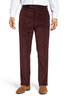 John W. Nordstrom(R) Torino Traditional Fit Flat Front Corduroy Trousers