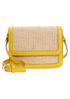 Nordstrom Skye Straw Crossbody Bag - Yellow