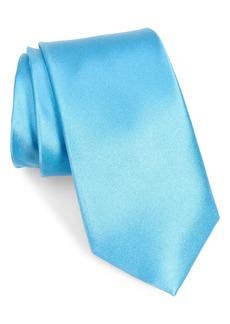 Men's Nordstrom Men's Shop Solid Silk X-Long Tie