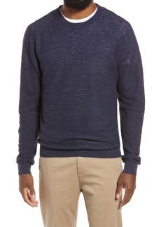 Men's Nordstrom Stripe Linen & Cotton Crewneck Sweater