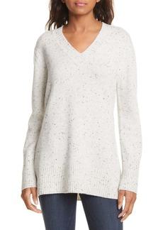 Nordstrom Multicolor Fleck Cashmere Tunic Sweater