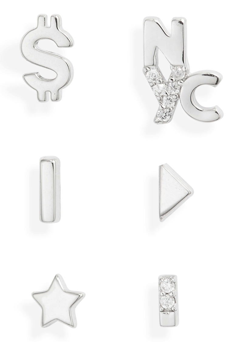 Nordstrom 6-Piece Assortment of Stud Earrings