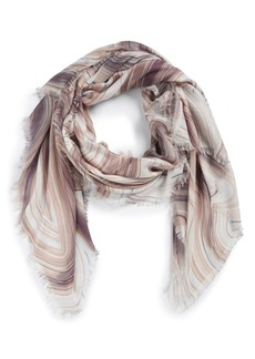 Nordstrom Abstract Print Cashmere & Silk Scarf