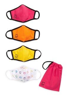 Nordstrom Assorted 4-Pack Big Kids' Logo Face Mask