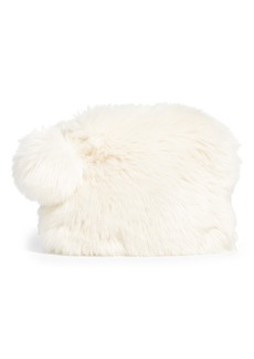 Nordstrom at Home Cuddle Up Faux Fur Pouch