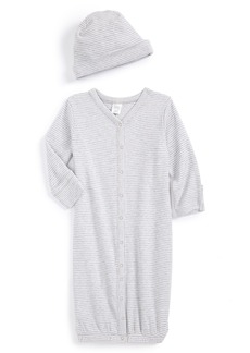 Nordstrom Baby Convertible Cotton Gown & Hat (Baby)
