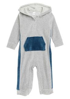 Nordstrom Baby Hooded Velour Romper (Baby)