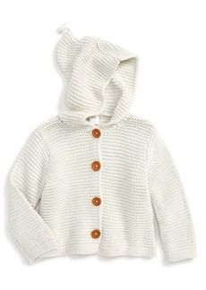 Nordstrom Baby Organic Cotton Hooded Cardigan (Baby)