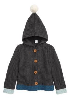 Nordstrom Baby Pompom Knit Hooded Cardigan (Baby)