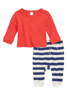 Nordstrom Baby Ribbed Top and Stripe Bottoms Set (Baby Boys)