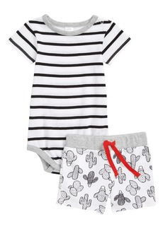 Nordstrom Baby Stripe Bodysuit & Shorts Set (Baby Boys)