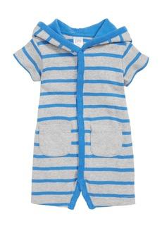 Nordstrom Baby Stripe Hooded Romper (Baby Boys)