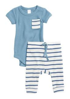 Nordstrom Baby Waffle Knit Bodysuit & Pants Set (Baby Boys)