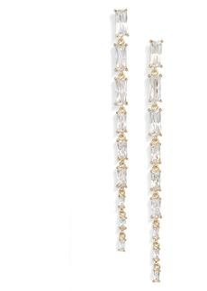 Nordstrom Baguette Cubic Zirconia Graduated Linear Drop Earrings