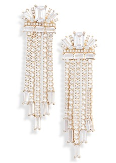 Nordstrom Baguette Cubic Zirconia Pavé Chandelier Earrings
