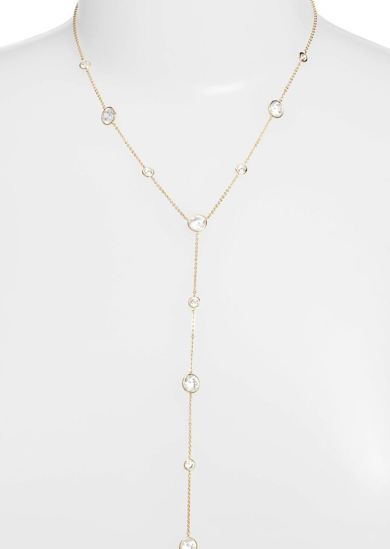 Nordstrom Bezel Stone Station Y-Necklace