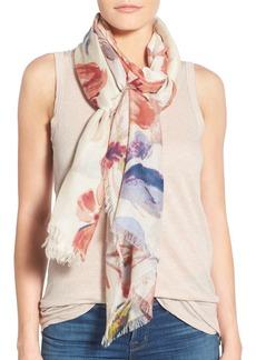 Nordstrom Brushed Floral Cashmere & Silk Scarf