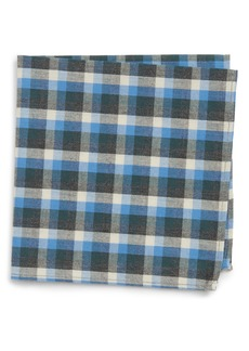 Nordstrom Check Silk Pocket Square (Big Boys)
