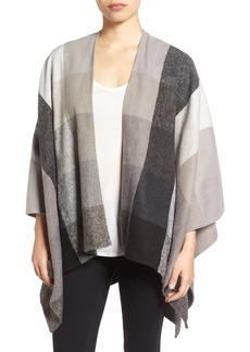 Nordstrom Check Woven Poncho