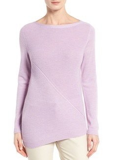 Nordstrom Collection Asymmetrical Textured Cashmere Pullover