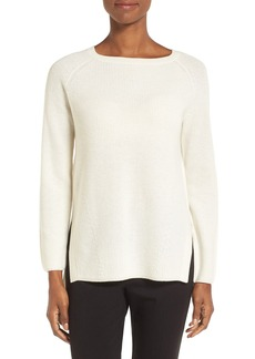 Nordstrom Collection Bateau Neck Cashmere Pullover