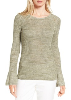 Nordstrom Collection Bell Sleeve Linen Blend Sweater
