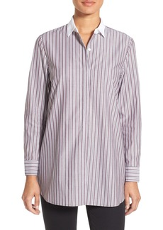 Nordstrom Collection Brunswick Stripe Cotton Blouse