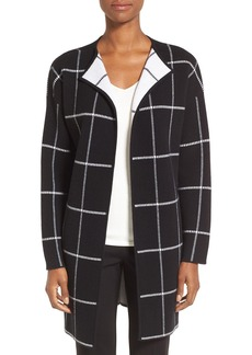 Nordstrom Collection Cashmere Blend Windowpane Sweater Jacket