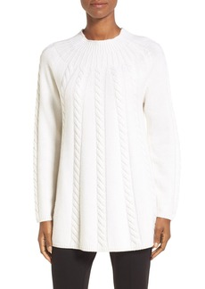 Nordstrom Collection Cashmere Cable Knit A-Line Pullover
