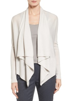 Nordstrom Collection Cashmere Drape Front Cardigan