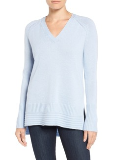 Nordstrom Collection Cashmere High/Low Pullover