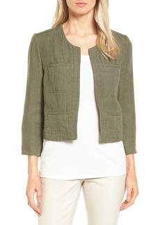 Nordstrom Collection Crop Linen & Cotton Jacket