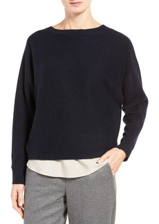 Nordstrom Collection Cross Back Cashmere Sweater