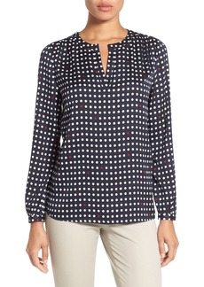 Nordstrom Collection Dot Print Stretch Silk Blouse