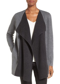 Nordstrom Collection Double Knit Contrast Cashmere Cardigan