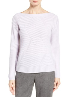 Nordstrom Collection High/Low Boatneck Cashmere Sweater