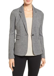 Nordstrom Collection Italian Jersey One-Button Blazer